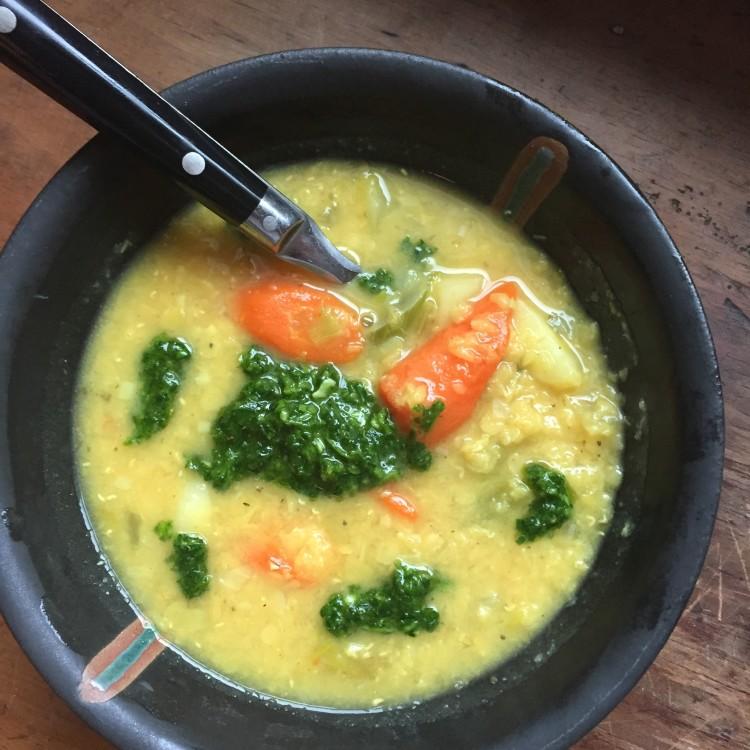 Golden Lentil & Root Vegetable Soup