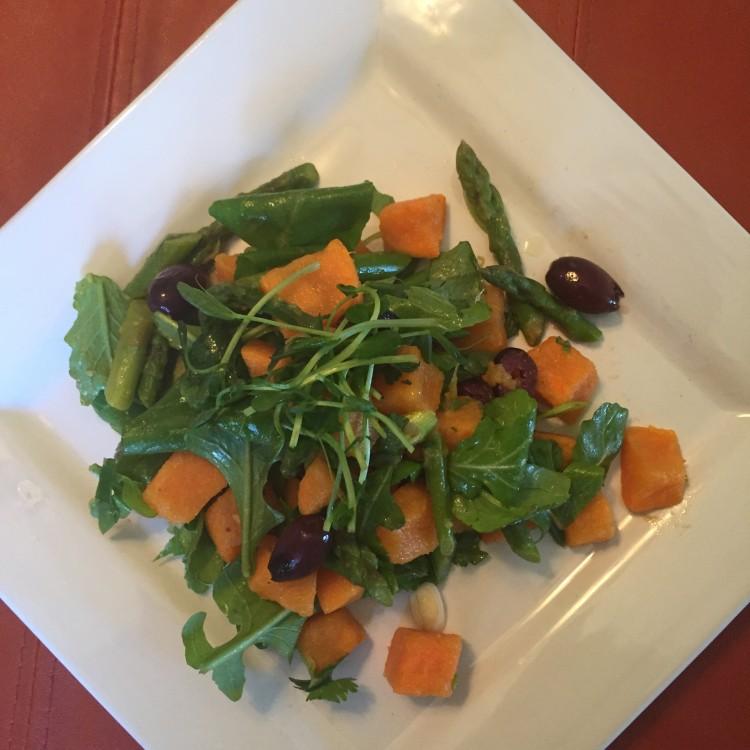 Chili Lime Sweet Potato & Asparagus Salad
