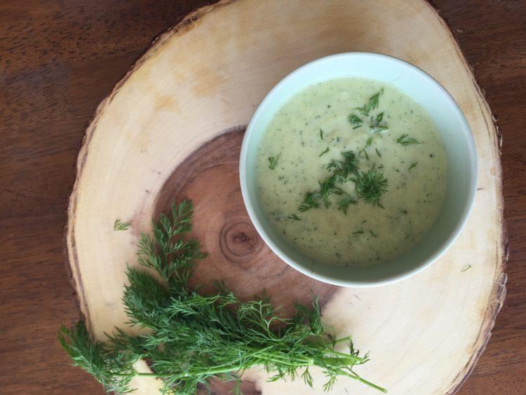 Creamy Zucchini Dill Soup